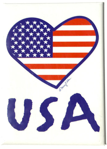 USA Heart Magnet (Pack of 12)