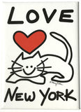 New York Love Cat Magnet