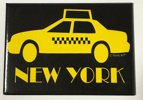 New York Midnight Taxi Magnet (Pack of 12)