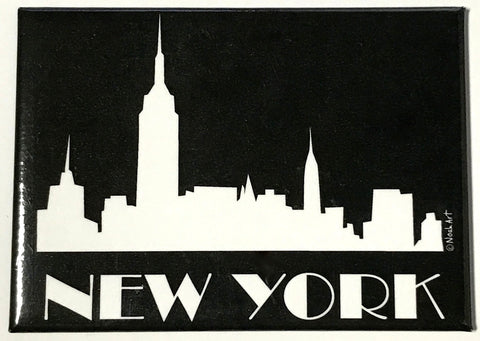 New York Midnight Skyline Magnet
