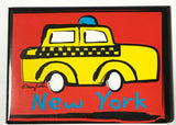 New York Red Taxi Magnet