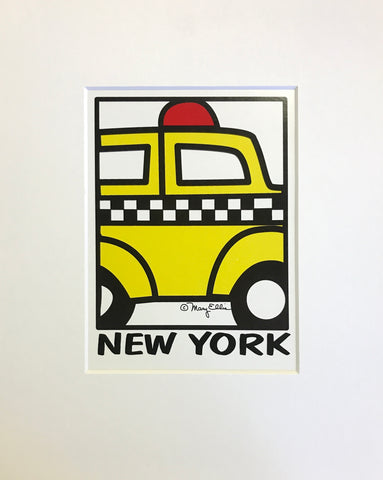 New York Taxi Print (Pack of 6)