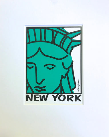 New York Statue of Liberty Face Print