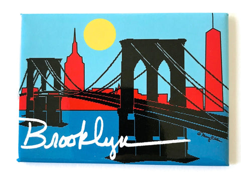 Brooklyn Bridge Skyline Magnet (Pack of 12)