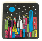 New York Night Skyline Coaster (Pack of 6)