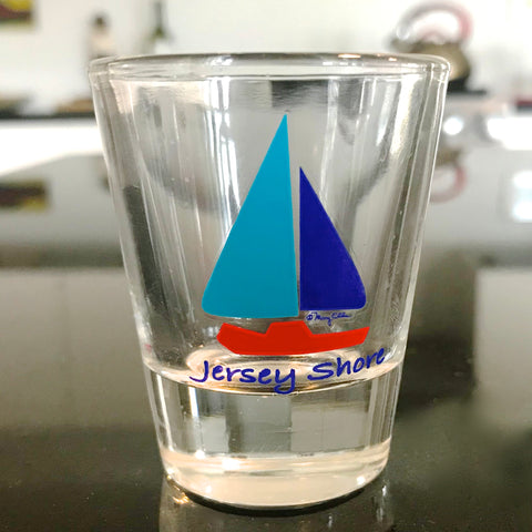 NJ Shore Sailboat Shot Glass