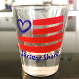 NJ Shore Flag Heart Shot Glass