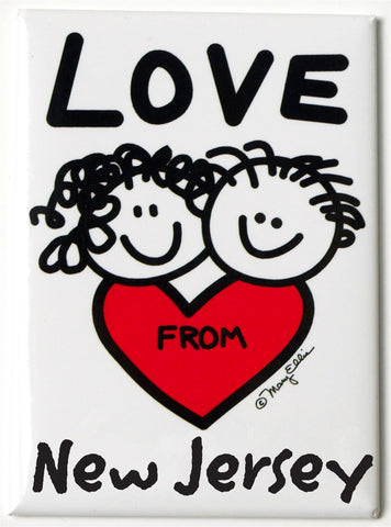 Love From New Jersey Magnet (Pack of 12)