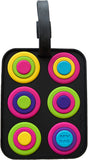Circles Black 3-D Luggage Tag