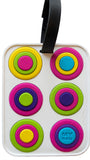 Circles White 3-D Luggage Tag