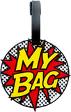 Comic 3-D Luggage Tag
