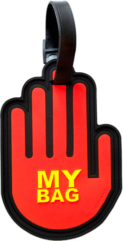 Hand Orange 3-D Luggage Tag