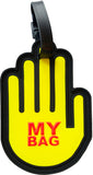 Hand Yellow 3-D Luggage Tag