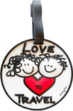Love To Travel 3-D Luggage Tag (Pack of 6)