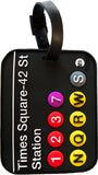 MTA Times Square Subway Station 3-D Luggage Tag