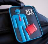 Man 3-D Luggage Tag (Pack of 6)