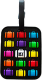 Multi Suitcase Black 3-D Luggage Tag (Pack of 6)