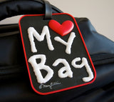 My Bag Heart Black 3-D Luggage Tag (Pack of 6)