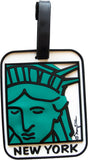 New York Statue of Liberty Face 3-D Luggage Tag