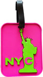 Statue Pink 3-D Luggage Tag (Pack of 6)
