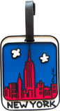 New York Red Skyline 3-D Luggage Tag