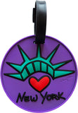New York Statue Heart 3-D Luggage Tag (Pack of 6)