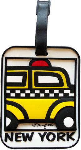 New York Taxi 3-D Luggage Tag (Pack of 6)