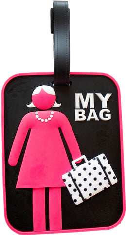 Woman 3-D Luggage Tag (Pack of 6)