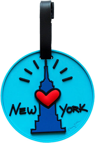 New York Empire Heart 3-D Luggage Tag (Pack of 6)