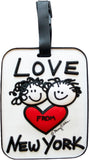 Love From New York 3-D Luggage Tag