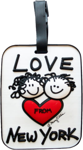 Love From New York 3-D Luggage Tag (Pack of 6)
