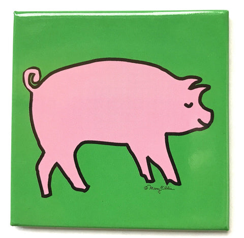 Farm Animal Pig Magnet (Pack of 12)