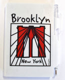 Brooklyn Bridge Cables Mini Notebook Pen Set (Pack of 6)