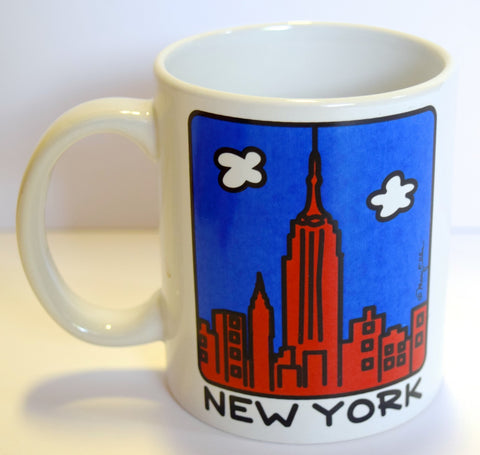 New York Red Skyline Mug