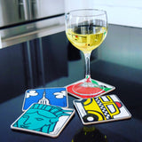 New York Icon Coaster Set of 4 (Pack of 12)