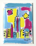 New York Abstract Skyline Magnet