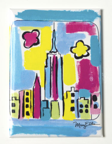 New York Abstract Skyline Magnet (Pack of 12)