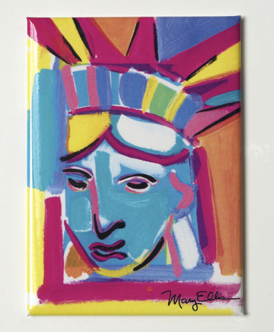New York Abstract Statue Of Liberty Magnet (Pack of 12)