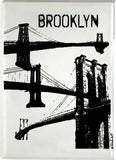 Brooklyn Magnets featuring Brooklyn's 3 famous bridges. Glossy metal magnet with full magnetic backing.