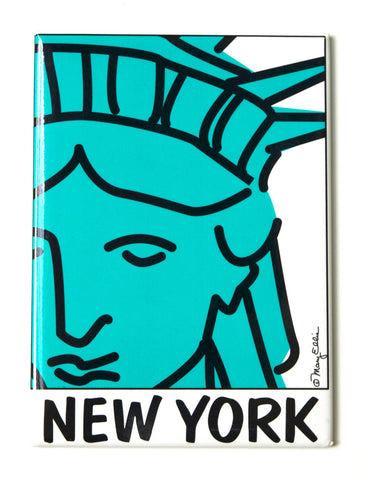 New York Statue Of Liberty Face Magnet