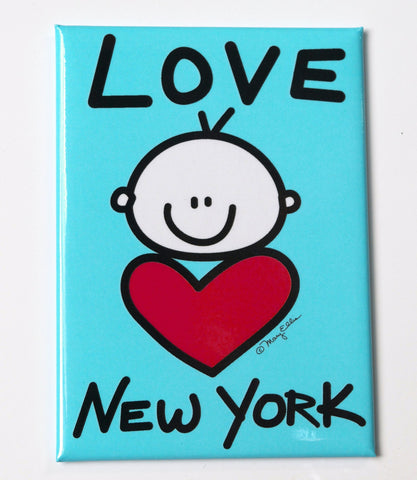 New York Baby Blue Magnet