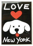 New York Love Dog Magnet