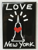 New York Love Empire Black Magnet
