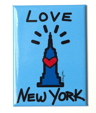 New York Love Empire Blue Magnet