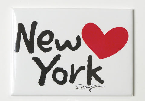 New York My Heart Magnet (Pack of 12)