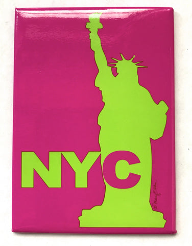 NYC Statue Pink Magnet