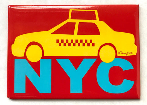 NYC Taxi Red Magnet