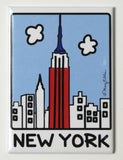 New York Patriotic Skyline Magnet