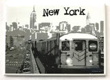 New York Subway Skyline Magnet