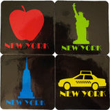 New York Black Coaster Set of 4 (Pack of 12)